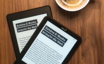 E-Book- Reader und Kaffee